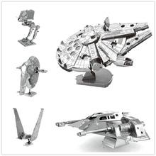3D Assembling Metal Model Star Wars Metal Earth Millennium Falcon XWing Millennium Falcon NANO Puzzles DIY