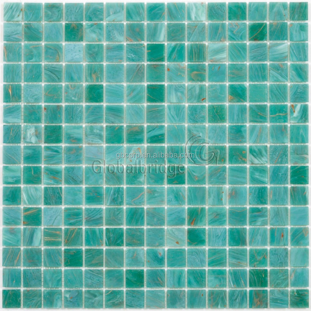 High quality green glass mosaic cheap swimming pool mosaic tiles for sale