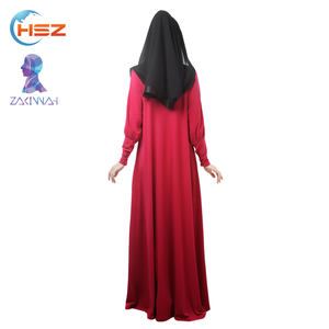 Zakiyyah 008 Latest Abaya Designs 2017 Long Sleeve Overhead Abaya Islamic Abaya And Hijab For Muslim Women