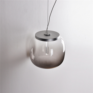 Grey Glass Gradient Color LED Pendant Fitting for Decorative Lighting