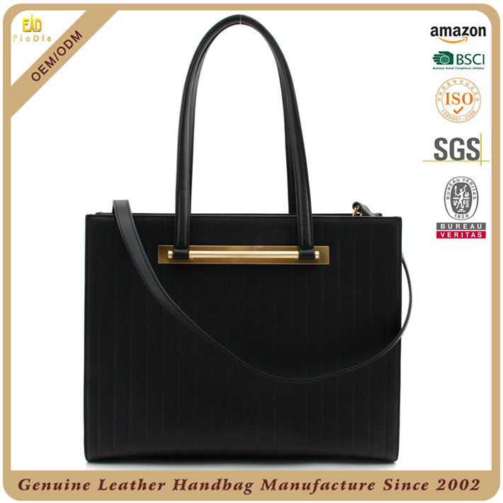 Embossed leather womens handbag best ladies shopper company purse satchel leather black bag