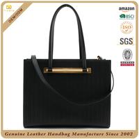 Embossed leather womens handbag best ladies shopper company purse satchel leather black bag