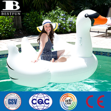 Promotional Custom large inflatable swan water pool toys giant swan pool float big swan water toy