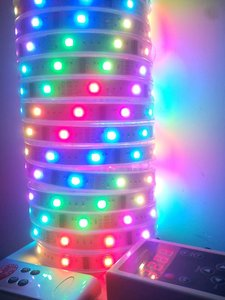 IP65 waterproof 3528 5050 335 RGB horse-race led strip ribbon lamp with remote controller