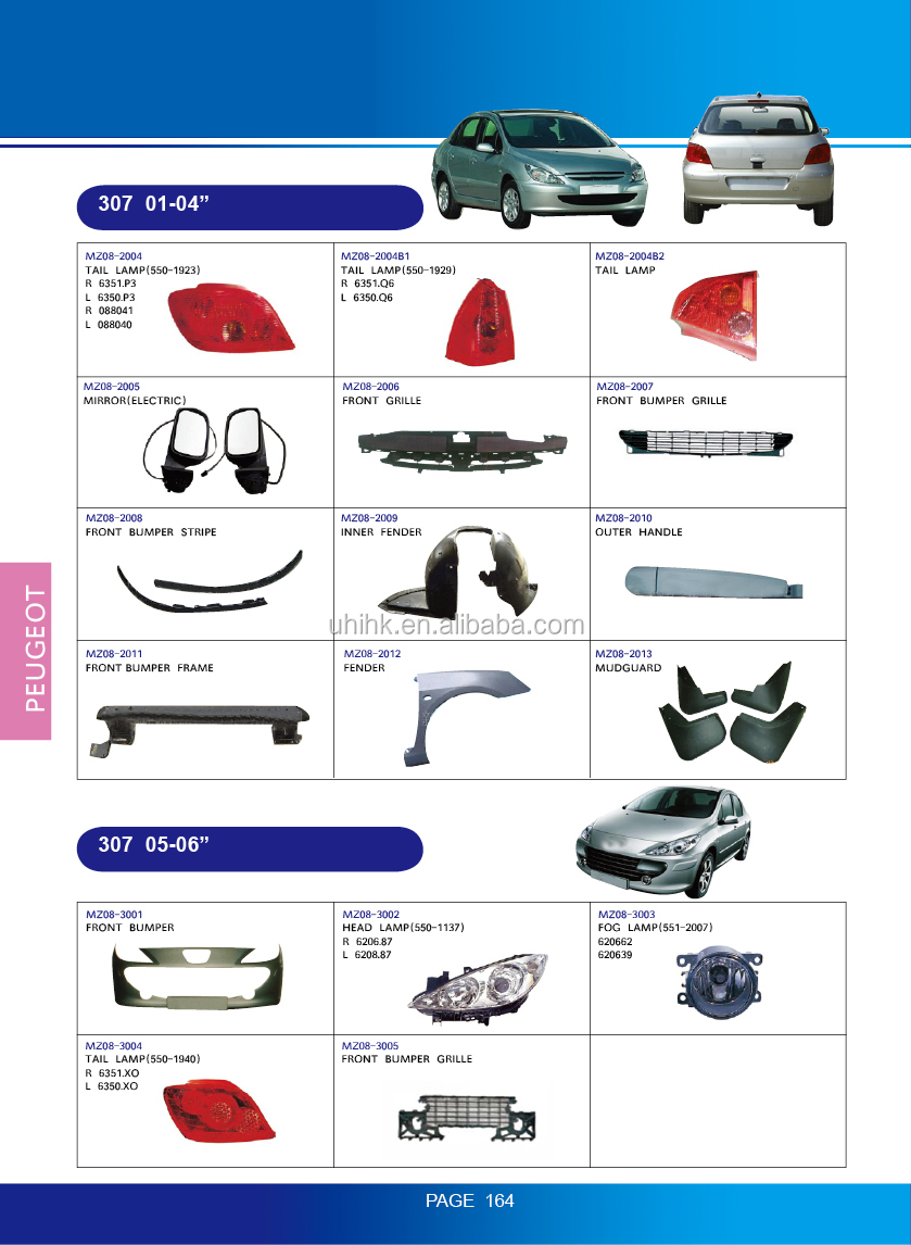 Car Body Parts---lamps 6350q6 088040 Mirrors Grille Inner Fender ...