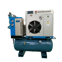 11kw 15hp Screw air compressor with dryer and tank for industrial