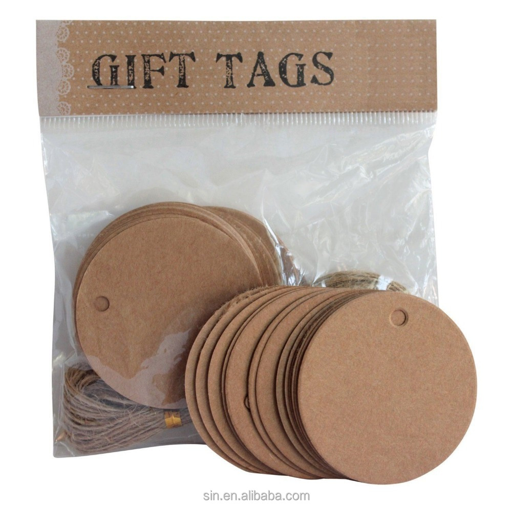 garment kraft paper hang tag with your own logo