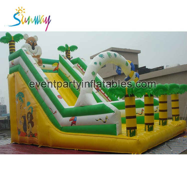 Popular palm tree inflatable water slide, customized slides for adults and kids