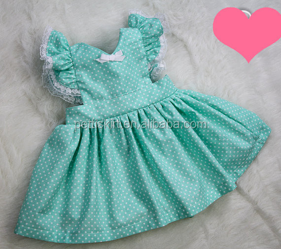 Plain Pink Lace Ruffle Dress Little Baby Dress Kids Clothes Cotton ...