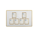 Naling New Design Modern Style 6 Gang Wall Switch And Socket