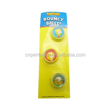 set of 3pcs CMYK print 1.5cm clear bouncy balls toy for children
