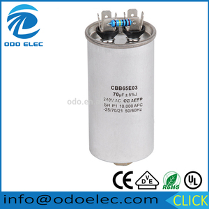 Modern design capacitor cbb65a 2 for xcmg spares parts
