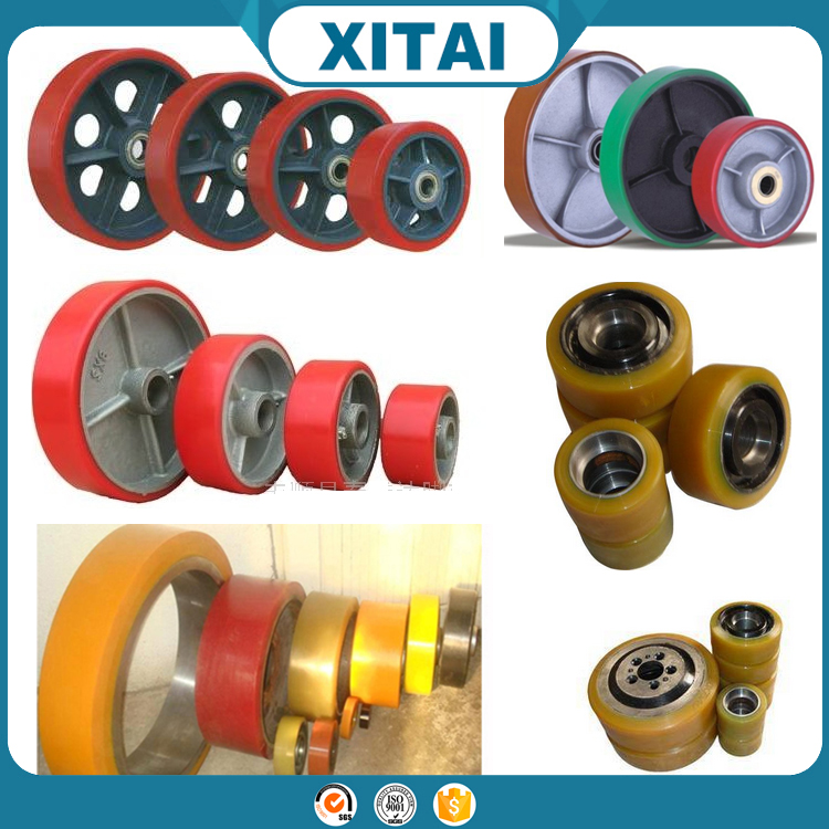 Hot Selling China polyurethane coated color ball bearing pu coated roller & wheel