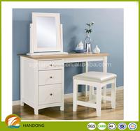 Modern simple elegant cherry wood vanity set/ dresser with mirror