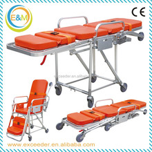 Collapsible ambulance stretcher folding ambulance chair stretcher of quality ambulance stretcher sizes