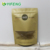 Sos Brown Bags Resealable Zipper Food Packaging Ziplock Promotional Window Kraft Paper Stand Up Pouch With Zip Lock