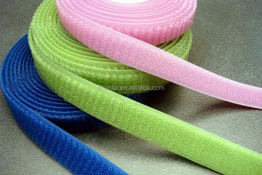 100% nylon normal hook& loop 2cm-10cm customized colourful