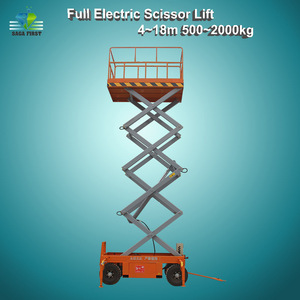 10m 500kg Hydraulic Electric Scissor Lift China