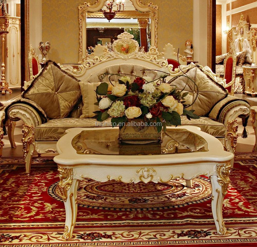 Luxe rococo frans hout gesneden met de hand geschilderde woonkamer ...