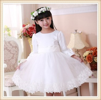 2017 Hot Girl Party Western Girls White Wedding Dresses Birthday ...