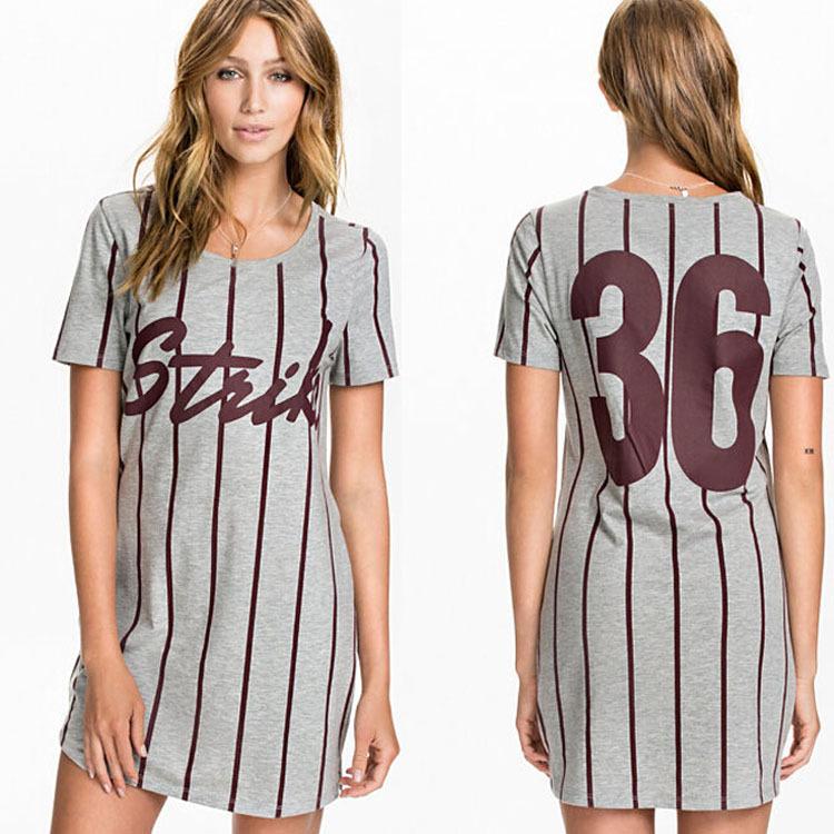 Sport jersey dresses for women for Baseball jersey shirt dress
