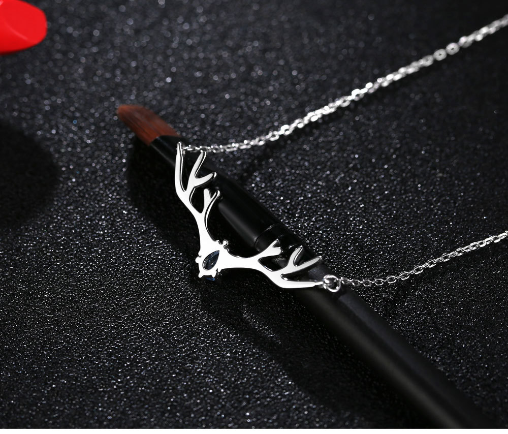 2019 <strong>Cheap</strong> Fashion Jewelry Antler <strong>Necklace</strong> Christmas <strong>Cute</strong> Deer Antlers <strong>Necklace</strong> Elk Pendant <strong>Necklace</strong>