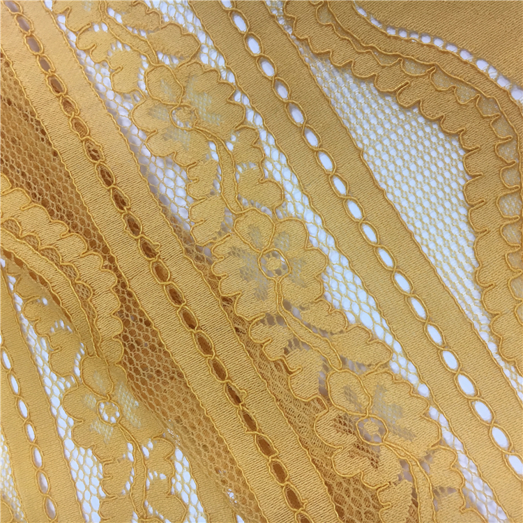 M035 2017 French nylon cotton chantilly dress making lace fabric for garment