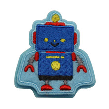 Blau <span class=keywords><strong>jungen</strong></span> jeans stickerei designs roboter stickerei patch