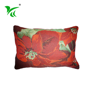User-friendly design indian seat jacquard woven christmas cushion cover