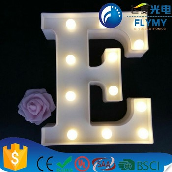 Warm White Marquee Led Letter Lights Sign Party Wedding Decor