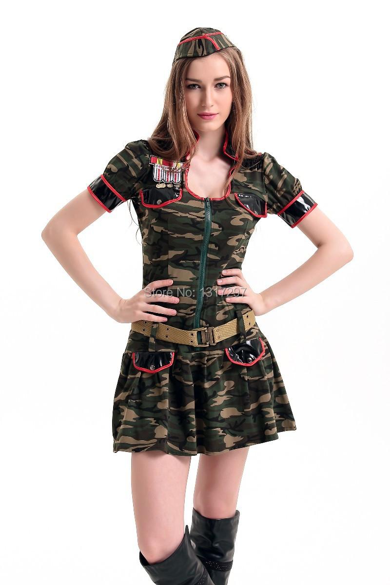 c7ba1c5e69 Get Quotations · Halloween Cosplay Costumes Sweet Girl Fancy Dress Sailor  Camouflage Navy Costume