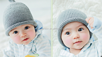 Solid Plain Infant Beanie 0-6 Months 6-12months Cute Newborn Baby Beanie  Hat - Buy Baby Beanie Hat 69ede4e0174
