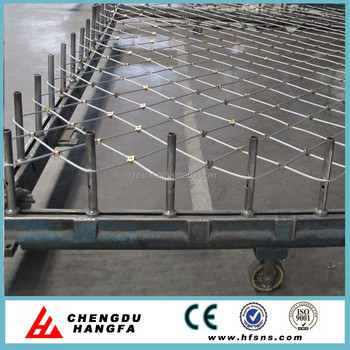 Gar1anti-corrosion Stainless Steel Wire Rope Mesh Net For Slope ...