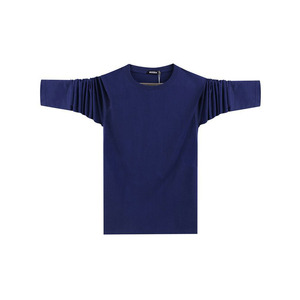 stock long sleeve cotton fabric tshirt for men