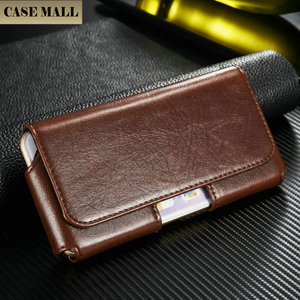 Luxury Leather Male Waist Clip Case waterproof phone case mobile covers for iPhone 6