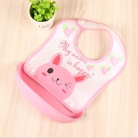 Private label baby products free sample lovely infants bibs funny silicone baby bib