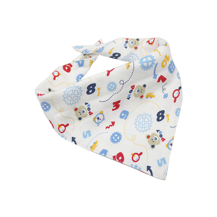 Factory direct selling hot sale soft, reusable, washable, fun, absorbent, adjustable saliva triangle baby bib