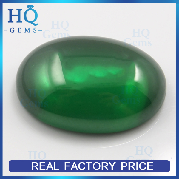 Wuzhou Oval Cabochon Green Imitation Cubic Zircon cz necklace
