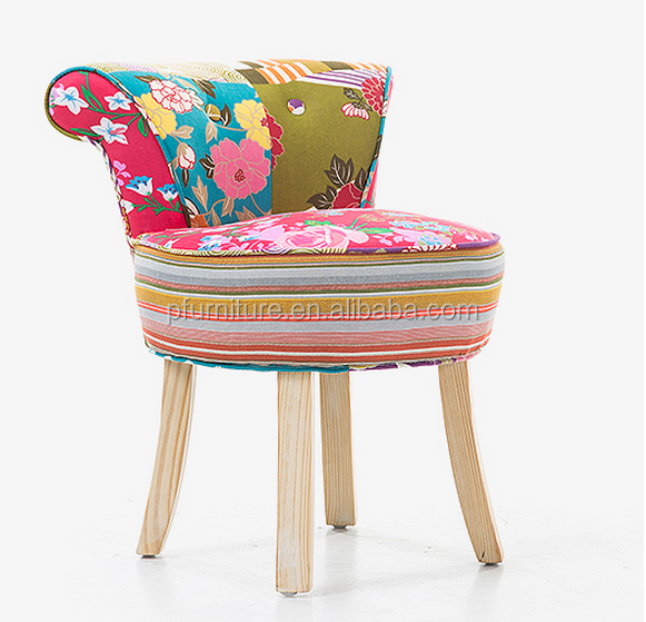Solid wood stool fashion creative sofa stool cloth make-up stool