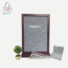 12x18 Purple Framed Changeable Felt Letter Board with Wood Stand