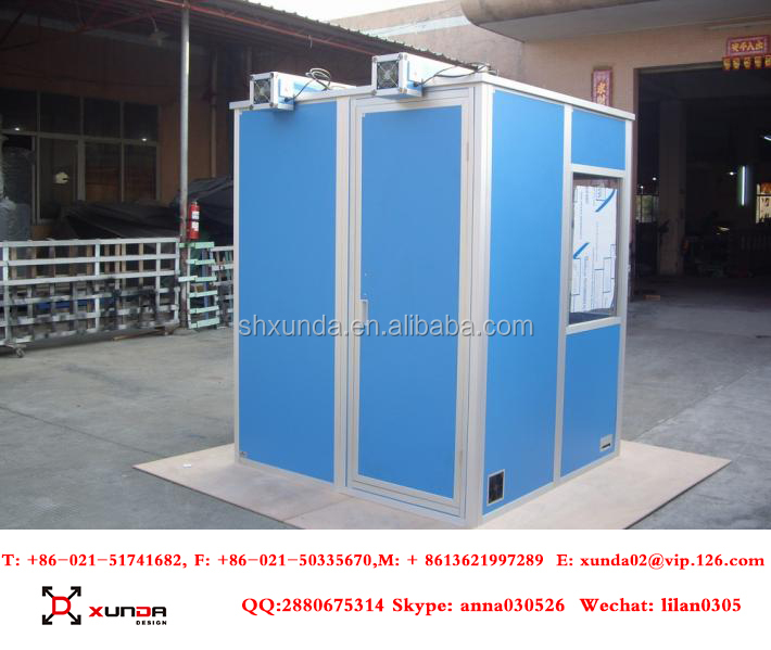 Xunda Portable Interpreter Booth sound proof booth Soundproof Simultaneous Interpreting Translation Booths Orange/Blue/Gray