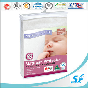 healthy cotton terry waterproof hotel flat sheet mattress protector