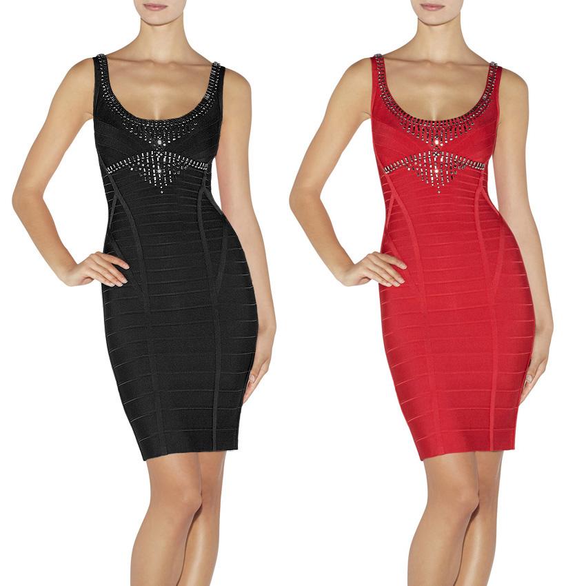 online shopping women france brand red black high quality rayon u neck slim hand beads autumn. Black Bedroom Furniture Sets. Home Design Ideas