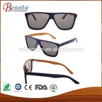Hand made wooden eyewear polarized natural wood sunglasses