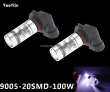 Made in china led light 100w cars use 9005 bulbs 20smd auto fog light