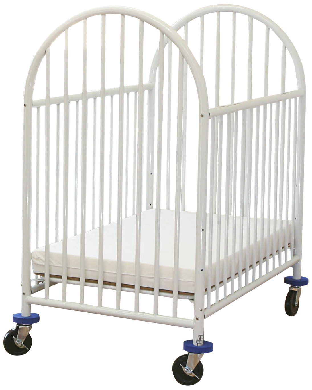 Get Quotations · LA Baby Arched Metal Compact Crib White