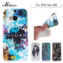 Fashion Painted Pattern TPU Silicone Soft sFor HTC One M8 Case For HTC One M8 Cell Phone Back Cover Case