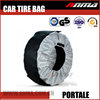 Portable Car wheel plastic fabric folding 4x4 storage pajero spare tire cover bag