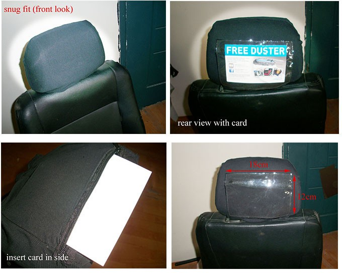 black headrest covers replaceable advertising taxi headrest covers  car seats buy headrest