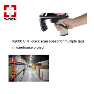 UHF R2000 Long Range Handheld Android RFID Inventory Management System